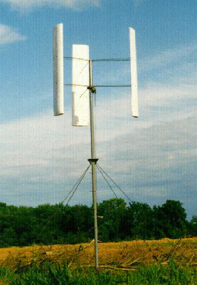 Figure 3.2:  H type vertical axis wind turbine, Source Garrad Hassan