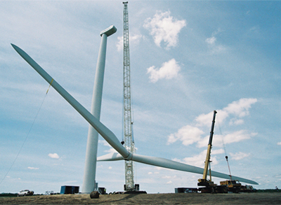Figure 3.28 Erection of Nordex wind turbines, source Nordex