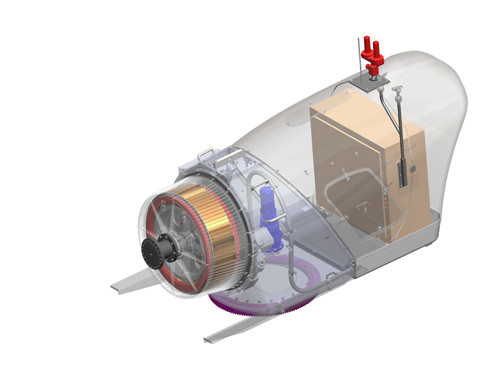 Figure 3.31 Northern Power System 100 kW drive train concept, source Northern Power Systems