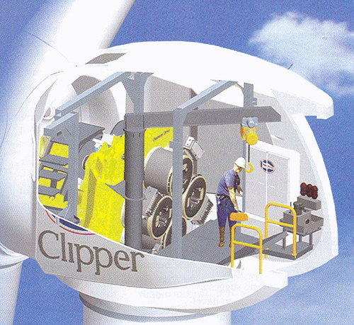 Figure 3.33 Clipper Wind LibertyWind Turbine with multi-PMG system