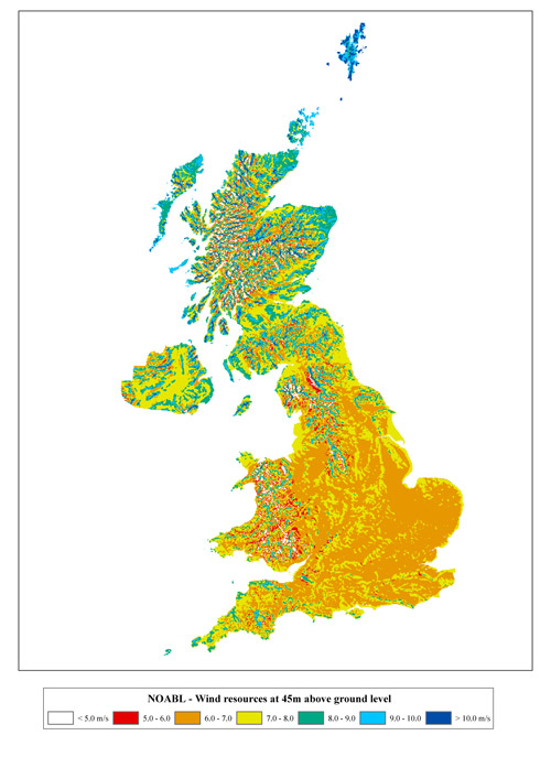 Figure A5   UK wind atlas from [11]