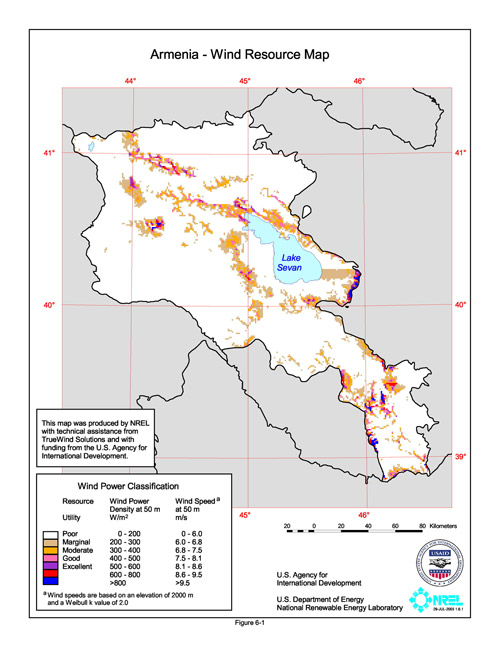 Figure A7   Armenia wind atlas from [13]